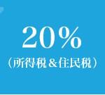 FXと税金 所得税&住民税 20%+復興特別所得税0.315%